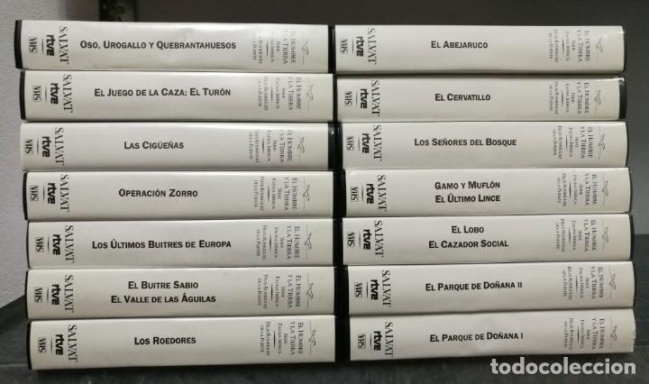 LOTE 14 VHS FÉLIX RODRÍGUEZ DE LA FUENTE - EL HOMBRE Y LA TIERRA - SERIE FAUNA IBÉRICA (Series TV en VHS )