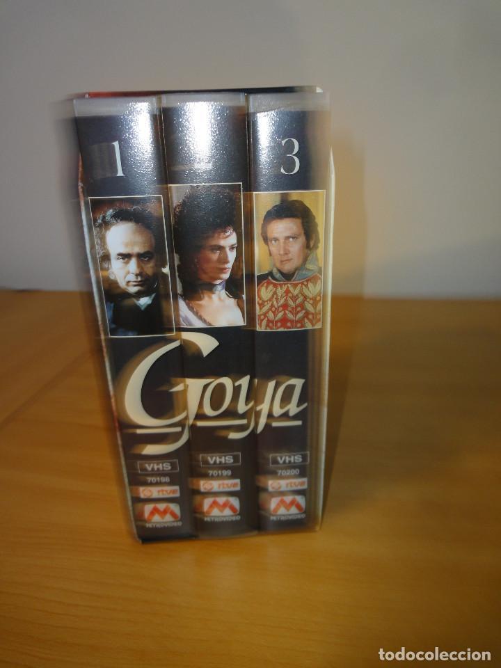 VHS. GRANDES SERIES DE TVE. GOYA (METROVIDEO PARA RTVE Y RAI, 1994) (Series TV en VHS )