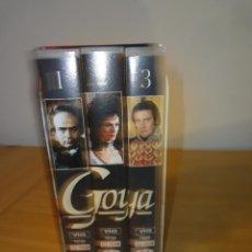 Series de TV: VHS. GRANDES SERIES DE TVE. GOYA (METROVIDEO PARA RTVE Y RAI, 1994). Lote 160868882