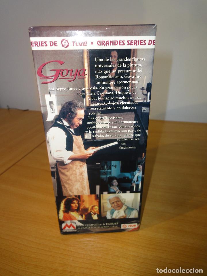 Series de TV: VHS. Grandes series de TVE. Goya (MetroVideo para RTVE y RAI, 1994) - Foto 2 - 160868882