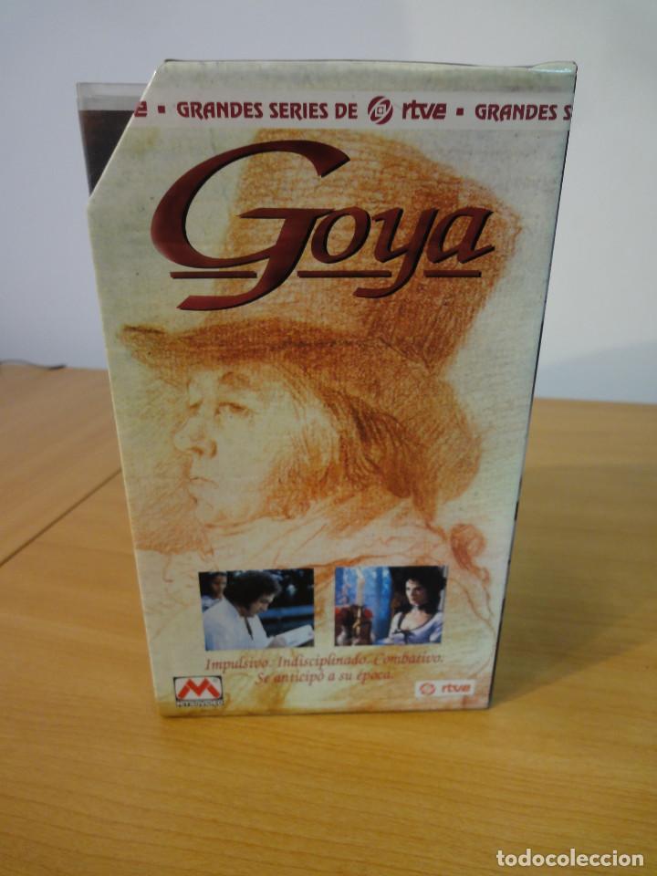 Series de TV: VHS. Grandes series de TVE. Goya (MetroVideo para RTVE y RAI, 1994) - Foto 3 - 160868882