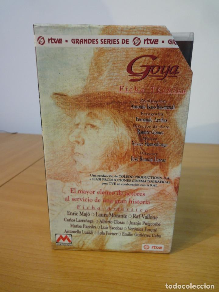 Series de TV: VHS. Grandes series de TVE. Goya (MetroVideo para RTVE y RAI, 1994) - Foto 4 - 160868882