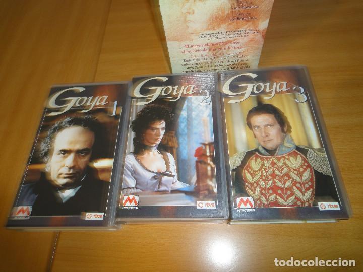 Series de TV: VHS. Grandes series de TVE. Goya (MetroVideo para RTVE y RAI, 1994) - Foto 5 - 160868882