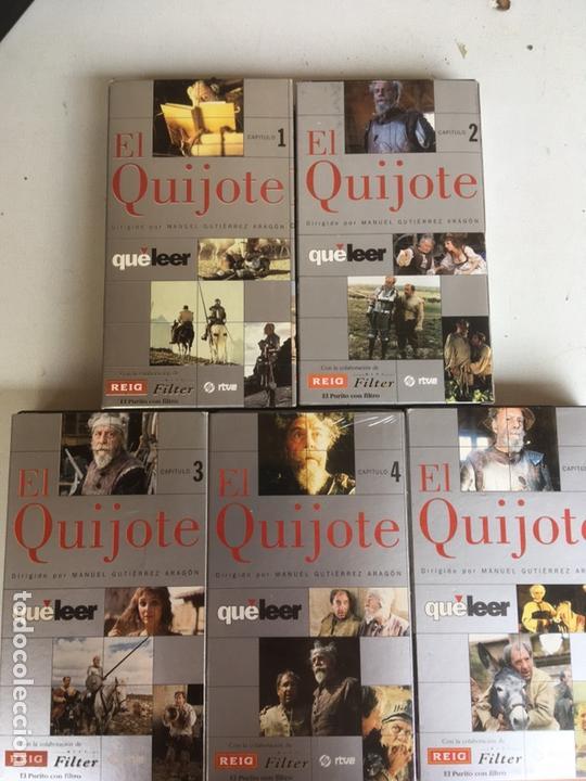 Series de TV: SERIE EL QUIJOTE RTVE 5 PELICULAS VHS - Foto 2 - 169200864