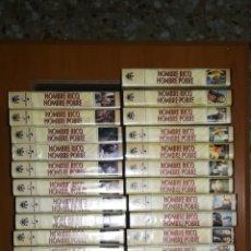 Series de TV: SERIE COMPLETA HOMBRE RICO, HOMBRE POBRE, 34 PELÍCULAS VHS. Lote 174926274