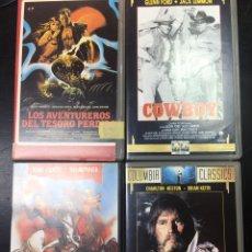 Series de TV: PELICULAS VHS - COWBOY - EL VALLE DE LA FURIA -LOS AVENTUREROS DEL VALLE PERDIDO -. Lote 176321593