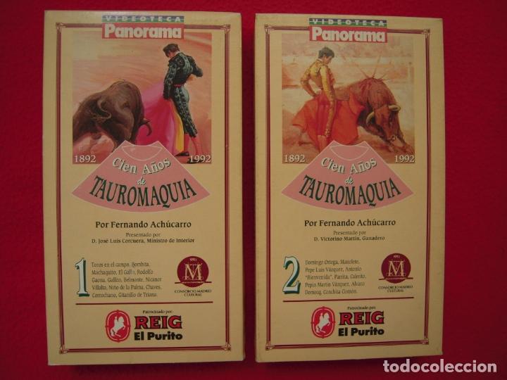 100 AÑOS DE TAUROMAQUIA EN VHS DE FERNANDO ACHÚCARRO (Series TV en VHS )