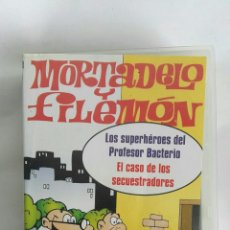 Series de TV: MORTADELO Y FILEMÓN LOS SUPERHÉROES DEL PROFESOR BACTERIO VHS. Lote 182127776