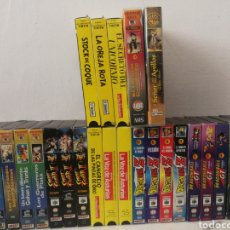 Series de TV: 26 VHS. DRAGON BALL GT, TINTIN, STREET FIGHTER II... BUEN ESTADO. Lote 182863760