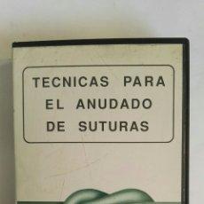 Series de TV: TÉCNICAS PARA EL ANUDADO DE SUTURAS VHS B. BRAUN DEXON. Lote 184405257