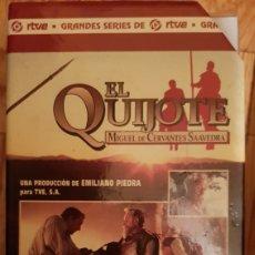 Series de TV: SERIE EN VHS DE EL QUIJOTE. Lote 187108037