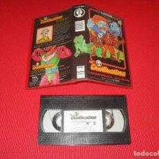 Series de TV: LOS CAZAFANTASMAS - 2 - VHS - LAX COLECCION - EL MISTERIOSO MUSEO DE CERA - EDDIE SE HACE CARGO. Lote 192239721