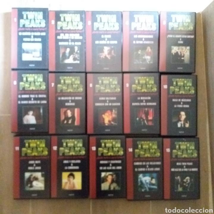 Series de TV: TWIN PEAKS.FASCÍCULOS QUE ACOMPAÑABAN LOS VHS.CON SU CAJA-ARCHIVADOR.COMPLETOS (15) - Foto 2 - 195171248