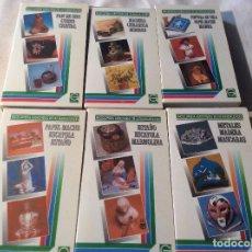 Series de TV: LOTE 8 VHS ENCICLOPEDIA AUDIOVISUAL DE LAS MANUALIDADES 2 3 4 5 6 7 MIMBRE PAN DE ORO ESTAÑO CUERO . Lote 198571458