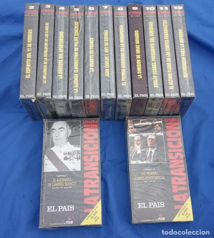 LA TRANSICIÓN ESPAÑOLA TVE. COLECCIÓN COMPLETA 13 VHS PRECINTADOS EXCEPTO Nº 9. VICTORIA PREGO (Series TV en VHS )
