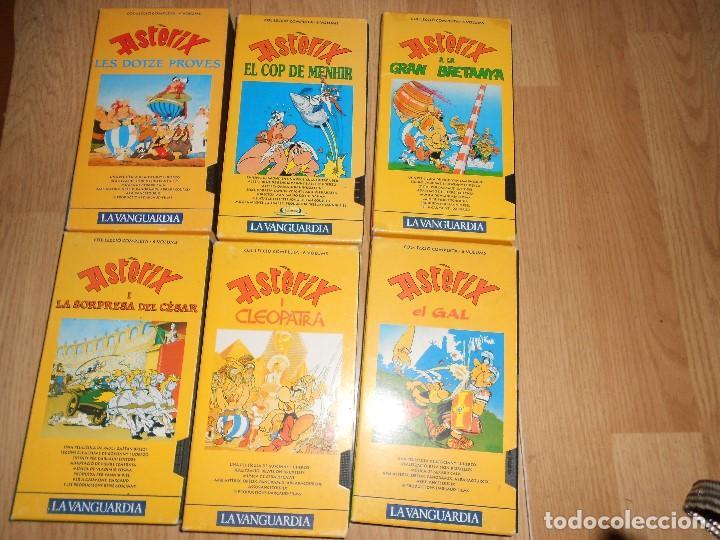 LOTE 6 VHS - ASTERIX - LES DOTZE PROVES - COP DE MENHIR - GRAN BRETANYA - CESAR - CLEOPATRA - EL GAL (Series TV en VHS )