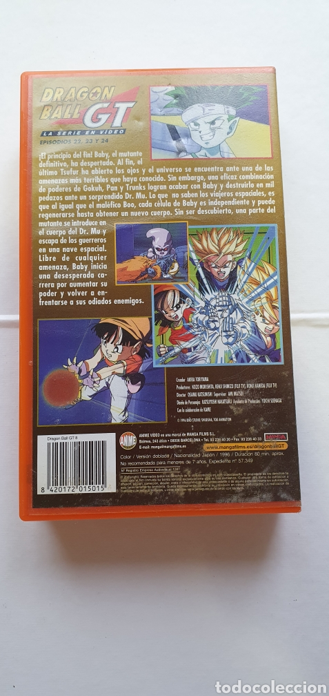 Series de TV: VIDEO DRAGON BALL GT 8 PRIMERA EPOCA -VHS DRAGON BALL EPISODIOS 22, 23 ,24 PELICULA MANGA - Foto 2 - 211599811