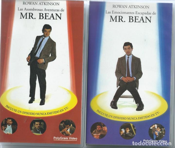 MR. BEAN LOTE 5 VHS ALGUNO CON EPISODIOS NO EMITIDOS EN TV (Series TV en VHS )