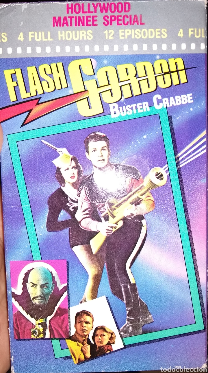 FLASH GORDON SERIE TV 1936 - BUSTER CRABBE - 2 VHS (Series TV en VHS )