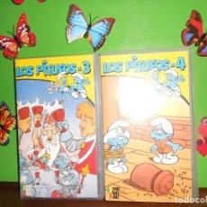Séries de TV: LOS PITUFOS 3 + LOS PITUFOS 4 - 2 CINTAS VHS. Lote 221967965