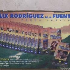 Series de TV: FAUNA IBÉRICA DE RODRÍGUEZ DE LA FUENTE - MALETÍN DE 18 CINTAS DE VHS. SIN ABRIR. Lote 222538242