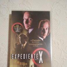 Séries de TV: CINTA VHS EXPEDIENTE X UN HIJO COLECCION EPISODIOS CLAVE THE X FILES. Lote 234019400