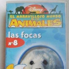 Series de TV: EL MARAVILLOSO MUNDO DE LOS ANIMALES LAS FOCAS VHS DISNEY. Lote 236075435