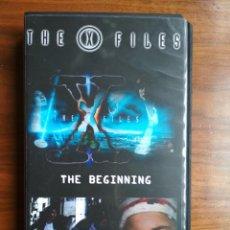 Series de TV: EXPEDIENTE X VHS AUTOEDITADO - DOBLE CAPÍTULO THE END Y THE BEGINNING GRABACIÓN DE TELECINCO. Lote 244826800