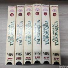 Series de TV: 6 CINTAS VHS CIEN AÑOS DE TAUROMAQUIA. REIG EL PUTITO. COMPLETA. SIN USO. Lote 245077175