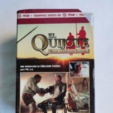 Series de TV: EL QUIJOTE GRANDES SERIES DE RTVE VHS. Lote 263161800