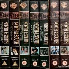 Series de TV: COLECCION COMPLETA 9 VHS NORTE SUR SERIE TV VERSION ORIGINAL LIBRO JAMES READ PATRICK SWAYZE DRAMA. Lote 248454450