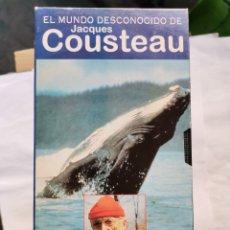 Series de TV: LOTE DOCUMENTALES EL MUNDO DESCONOCIDO DE JACQUES COUSTEAU 11 CINTAS VHS. Lote 275266823