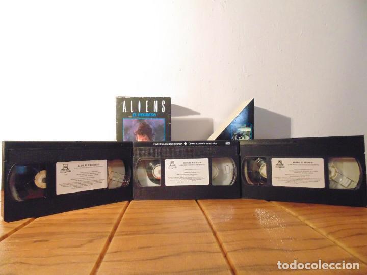 VHS EDICIÓN ESPECIAL 3 VHS * ALIEN EL 8º PASAJERO + ALIENS EL REGRESO + COMO SE HIZO ALIEN 3 * (Series TV en VHS )