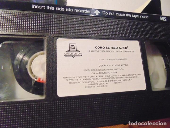 Series de TV: Vhs Edición Especial 3 vhs * Alien el 8º Pasajero + Aliens el Regreso + Como se hizo Alien 3 * - Foto 3 - 275941843