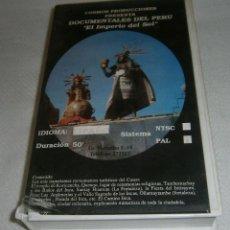 Series de TV: VIDEO VHS DOCUMENTALES DEL PERU EL IMPERIO DEL SOL COSMOS PRODUCCIONES CUSCO. Lote 278603768