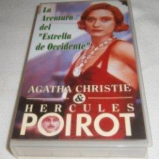 Series de TV: VIDEO VHS LA AVENTURA DEL ESTRELLA DE OCCIDENTE AGATHA CHRISTIE. Lote 278605893