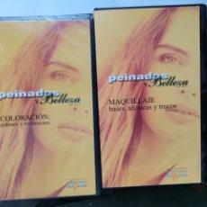 Series de TV: CURSO DE PELUQUERÍA Y MAQUILLAJE PEINADOS Y BELLEZA DE HOY LOTE 8 CINTAS VHS. Lote 278919133