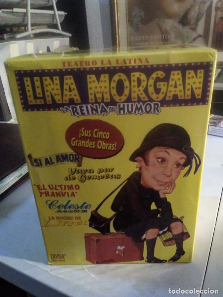 LOTE 5 VHS LINA MORGAN LA REINA DEL HUMOR OBRA TEATRO LA LATINA SI AL AMOR EL ULTIMO TRANVIA CELESTE (Series TV en VHS )