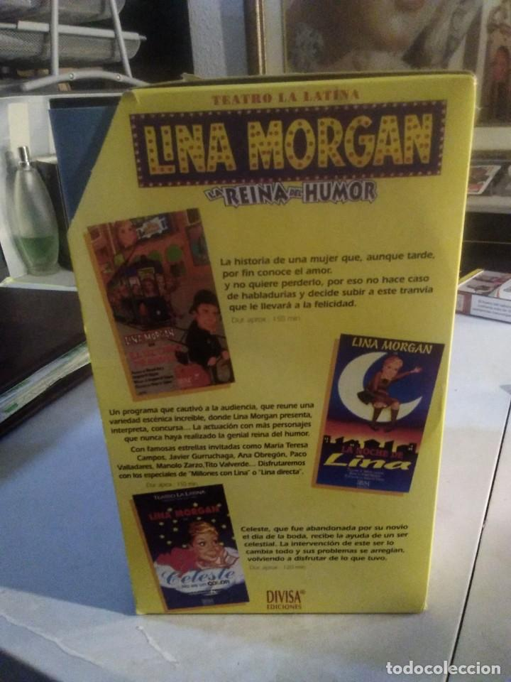 Series de TV: LOTE 5 VHS LINA MORGAN LA REINA DEL HUMOR OBRA TEATRO LA LATINA SI AL AMOR EL ULTIMO TRANVIA CELESTE - Foto 2 - 282066008
