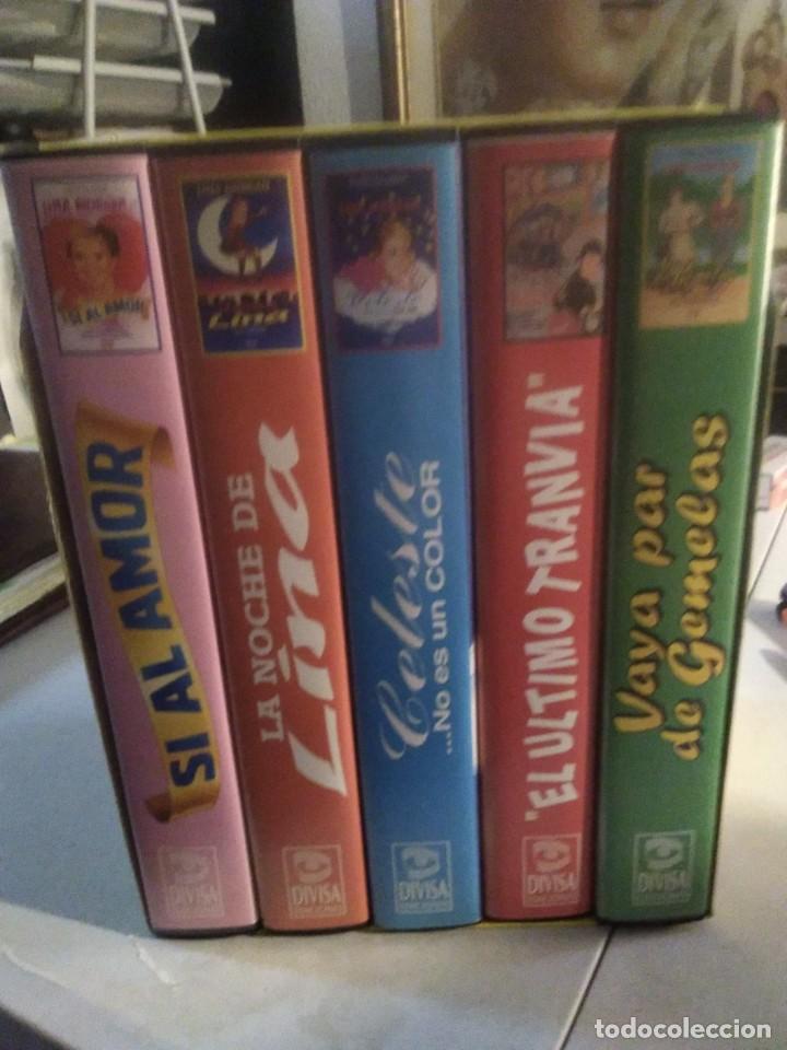 Series de TV: LOTE 5 VHS LINA MORGAN LA REINA DEL HUMOR OBRA TEATRO LA LATINA SI AL AMOR EL ULTIMO TRANVIA CELESTE - Foto 3 - 282066008
