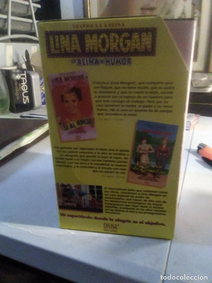 Series de TV: LOTE 5 VHS LINA MORGAN LA REINA DEL HUMOR OBRA TEATRO LA LATINA SI AL AMOR EL ULTIMO TRANVIA CELESTE - Foto 4 - 282066008