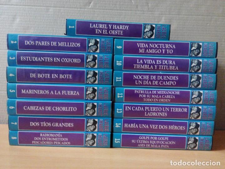 COLECCION DE 15 VIDEOS EN VHS DE LAUREL & HARDY +OBSEQUIO DE RELOJ DE PULSERA DE CABALLERO (Series TV en VHS )