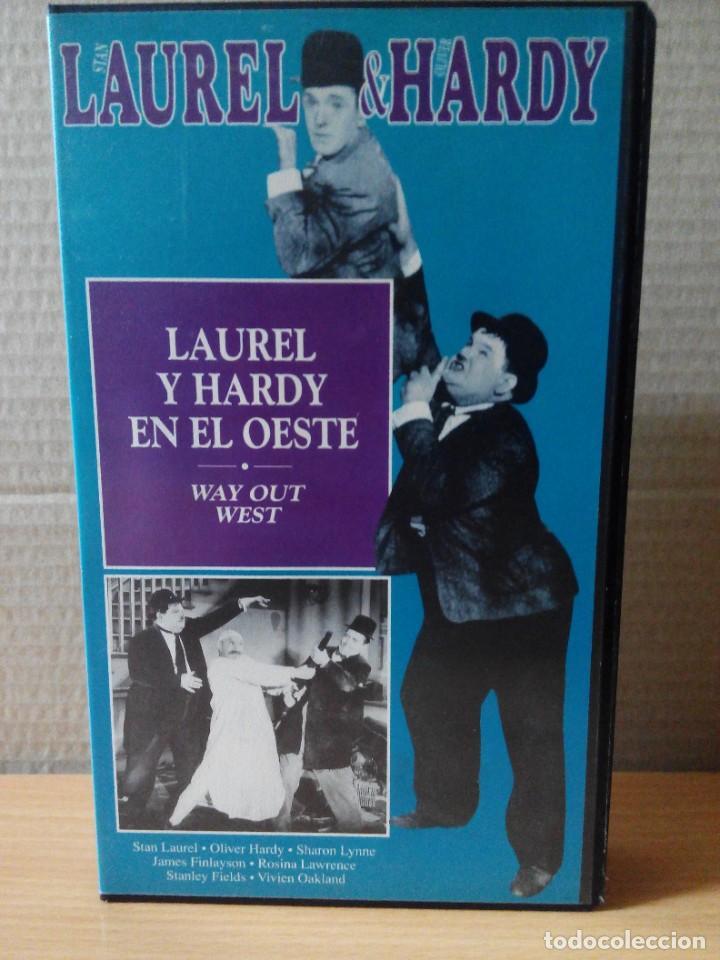 Series de TV: COLECCION DE 15 VIDEOS EN VHS DE LAUREL & HARDY +OBSEQUIO DE RELOJ DE PULSERA DE CABALLERO - Foto 2 - 287216228