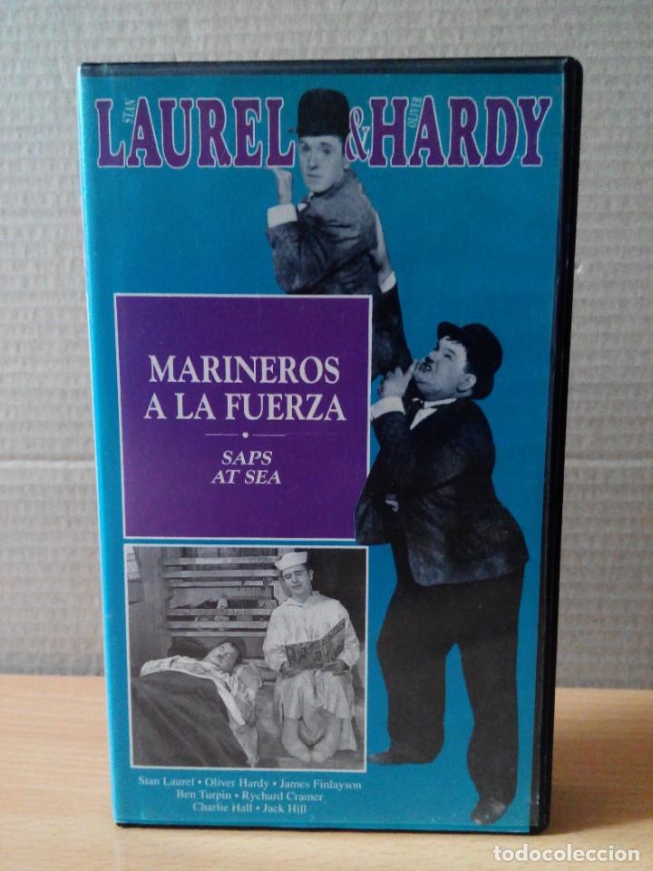 Series de TV: COLECCION DE 15 VIDEOS EN VHS DE LAUREL & HARDY +OBSEQUIO DE RELOJ DE PULSERA DE CABALLERO - Foto 6 - 287216228