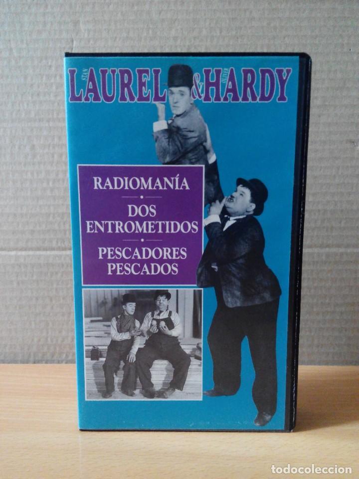 Series de TV: COLECCION DE 15 VIDEOS EN VHS DE LAUREL & HARDY +OBSEQUIO DE RELOJ DE PULSERA DE CABALLERO - Foto 9 - 287216228