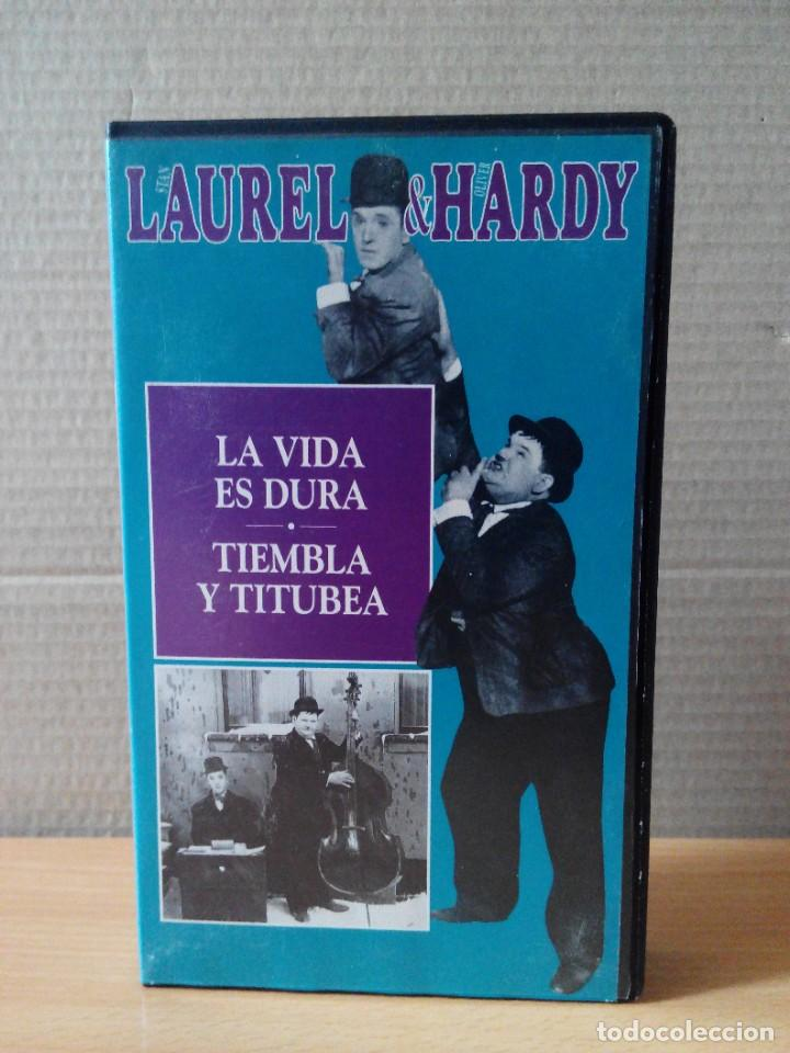 Series de TV: COLECCION DE 15 VIDEOS EN VHS DE LAUREL & HARDY +OBSEQUIO DE RELOJ DE PULSERA DE CABALLERO - Foto 11 - 287216228