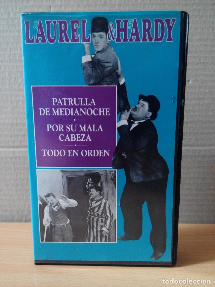 Series de TV: COLECCION DE 15 VIDEOS EN VHS DE LAUREL & HARDY +OBSEQUIO DE RELOJ DE PULSERA DE CABALLERO - Foto 13 - 287216228
