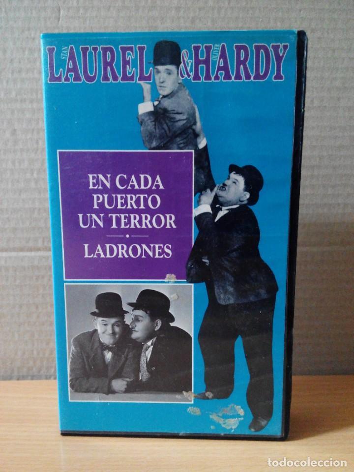 Series de TV: COLECCION DE 15 VIDEOS EN VHS DE LAUREL & HARDY +OBSEQUIO DE RELOJ DE PULSERA DE CABALLERO - Foto 14 - 287216228