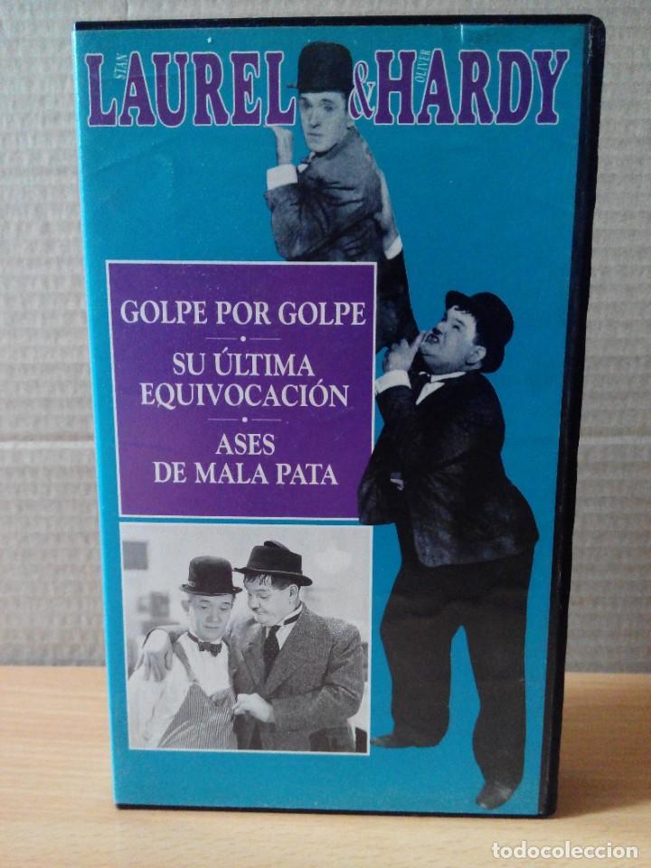 Series de TV: COLECCION DE 15 VIDEOS EN VHS DE LAUREL & HARDY +OBSEQUIO DE RELOJ DE PULSERA DE CABALLERO - Foto 16 - 287216228