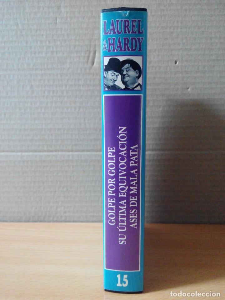 Series de TV: COLECCION DE 15 VIDEOS EN VHS DE LAUREL & HARDY +OBSEQUIO DE RELOJ DE PULSERA DE CABALLERO - Foto 17 - 287216228